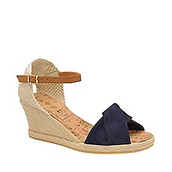 Ravel - Navy 'Palmer' peep-toe wedge sandals