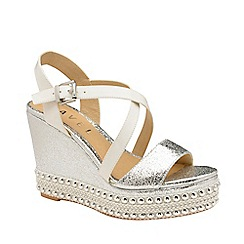 Ravel - Silver 'Yulee' open-toe wedge sandals
