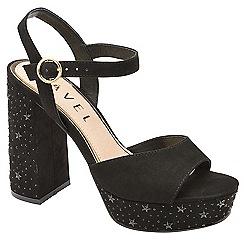 Ravel - Black 'Delray' platform heel sandals