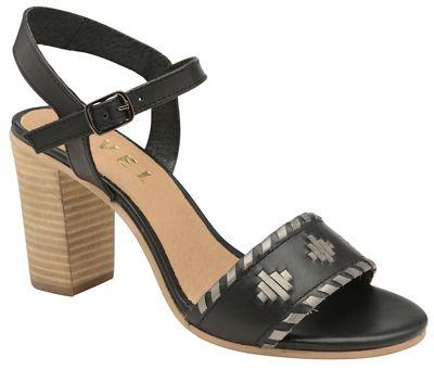Ravel - Black 'Hallerton' ladies high heeled block sandals