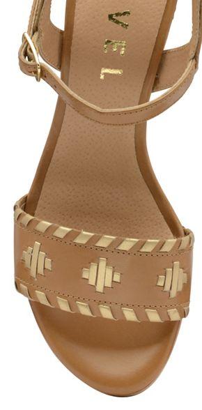 ladies Ravel 'Hallerton' Tan sandals high block heeled O4naEwq