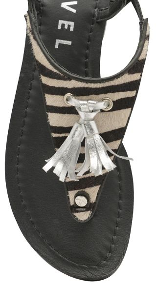 toe sandals 'Hurst' zebra Black and post ladies Ravel waXTBc