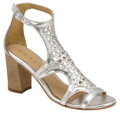 Ravel - Silver 'Halton' ladies block heeled sandals