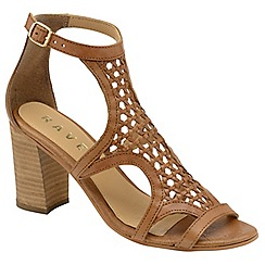 Ravel - Tan 'Halton' ladies block heeled sandals
