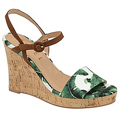Ravel - Leaf print 'Hobson' ladies high heeled wedges