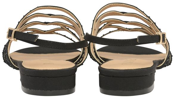 strappy sandals 'Hanna' toe Black Ravel ladies open wf8CW7q