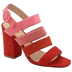 Ravel - Red 'Stavely' ladies strappy block heeled sandals