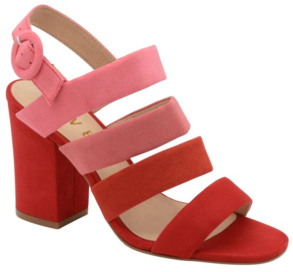 heeled block strappy ladies Red Ravel sandals 'Stavely' 6wgBXIxq
