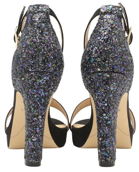 Ravel glitter Black toe ladies peep sandals 'Selma' TWTn6rOxq