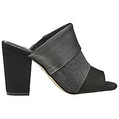 Ravel - Black 'Richmond' ladies peep toe slip on shoes