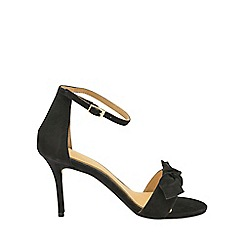Ravel - Black 'Grayston' ladies suede ankle strap sandals