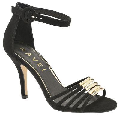 Ravel - Black 'Fayette' ladies stiletto heeled sandals
