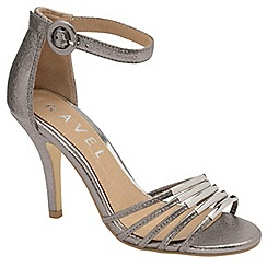 Ravel - Silver 'Fayette' ladies stiletto heeled sandals