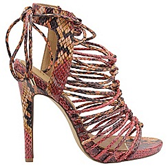 Ravel - Red snake 'Maryhill' ladies high strappy sandals