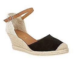 Ravel - Black 'Etna' wedge heeled espadrille sandals