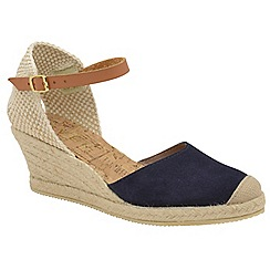 Ravel - Navy 'Etna' ladies suede ankle strap sandals