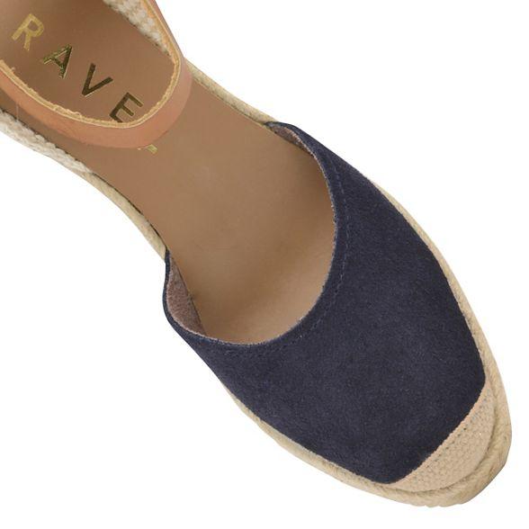6f234bfad77 sandals ladies  Etna  strap ankle suede Ravel Navy w4PqHH ...