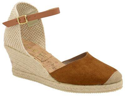 Ravel - Tan 'Etna' ladies suede ankle strap sandals