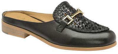Ravel - Black 'Axis' ladies slip on heeled loafers