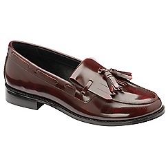 Ravel - Burgundy 'Tilden' low heel loafers
