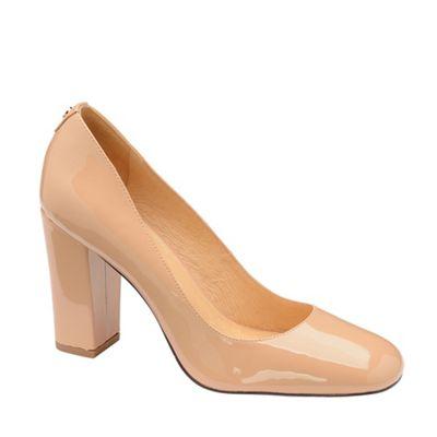 21b3e3327523 Ravel - Nude  Baldwin  block heel court shoes