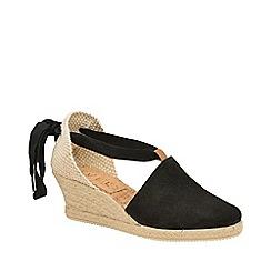 78009bab0916 Ravel - Black  Antora  suede wedge sandals
