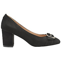 Ravel - Black 'Hingham' ladies block heeled court shoes