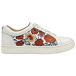 Ravel - White 'Garo' ladies lace up casual trainers