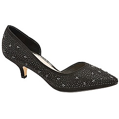 Ravel - Black 'Doral' kitten heel court shoes