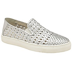 Ravel - Silver 'Ferndale' ladies slip on cut out trainers