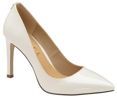 Ravel - White 'Edson' ladies stiletto heeled court shoes