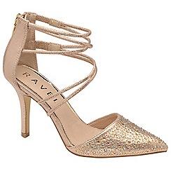 Ravel - Rose gold 'Bonita' stiletto heeled shoes