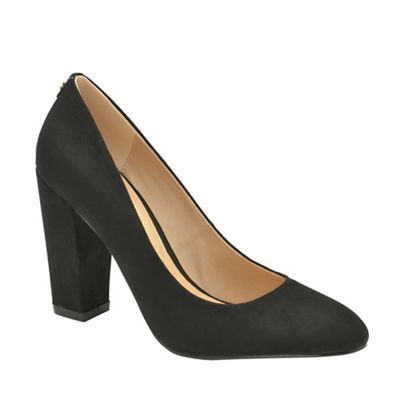 Ravel - Black 'Roxton' ladies high heeled slip on shoes