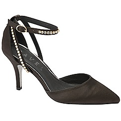 Ravel - Black 'Nova' heeled court shoes