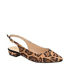 Ravel - Leopard print 'Highlands' slingback court shoes