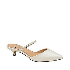 Ravel - White 'Odessa' kitten heel shoes