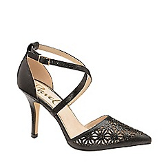 Ravel - Black 'Volusia' strappy court shoes