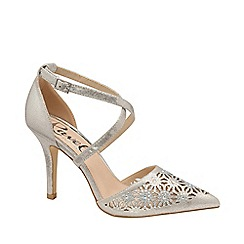 Ravel - Silver 'Volusia' strappy court shoes