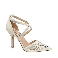 Ravel - White 'Volusia' strappy court shoes