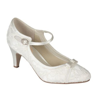 Pink by Paradox London - Lace 'cupcake' mid kitten heel mary janes