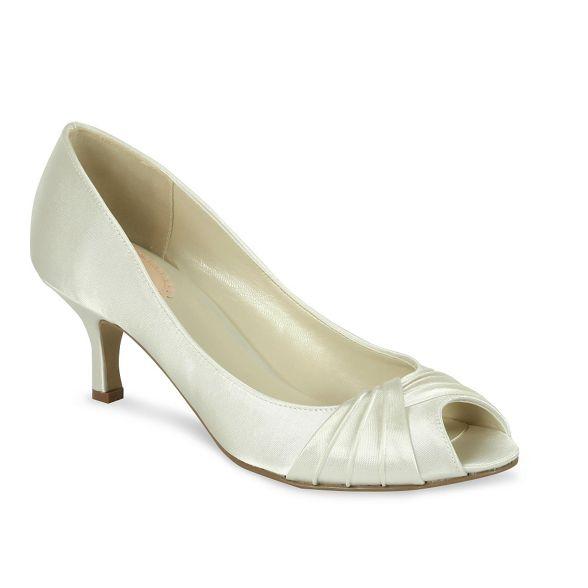 by mid Paradox Pink heel Satin London peep shoes 'romantic' kitten toe AFwXw