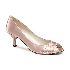 Pink by Paradox London - Satin 'romantic' mid kitten heel peep toe shoes