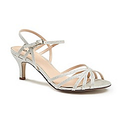 Pink by Paradox London - Glitter 'harper' mid kitten heel ankle strap sandals