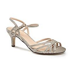 Pink by Paradox London - Glitter 'harper' mid kitten heel ankle strap sandals