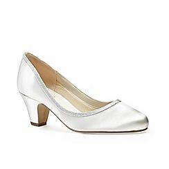 Pink by Paradox London - Satin 'freya' mid block heel court shoes