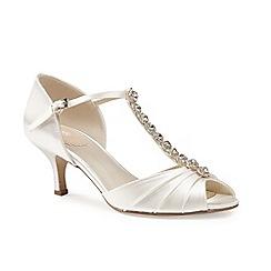 5cc706cab55 Pink by Paradox London - Satin  fantasy  mid kitten heel t-bar shoes