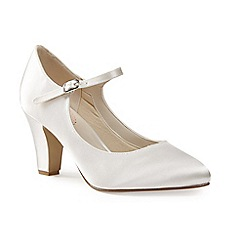 Pink by Paradox London - Satin 'radiance mid block heel mary janes