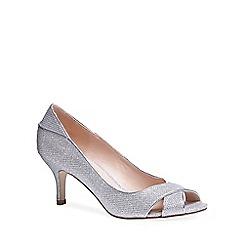Pink By Paradox London   Glitter U0027adeleu0027 Mid Heel Stiletto Peep Toe Shoes