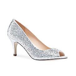 Pink by Paradox London - Diamante 'chantal' mid heel stiletto peep toe shoes