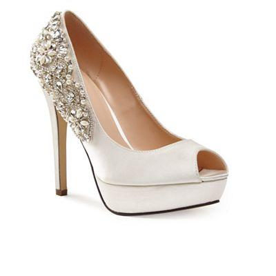 Pink by Paradox London - Satin 'indulgence' high heel platform peep toe shoes